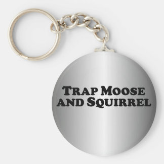 Trap Moose and Squirrel - Mixed Clothes Basic Round Button Keychain