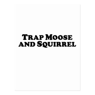 Trap Moose and Squirrel - Mixed Clothes Postcard