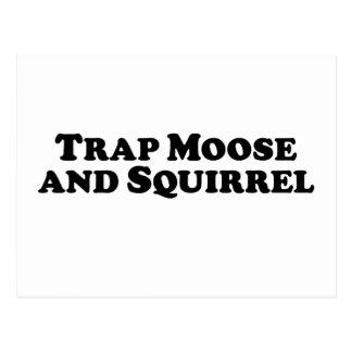 Trap Moose and Squirrel - Mixed Clothes Postcard