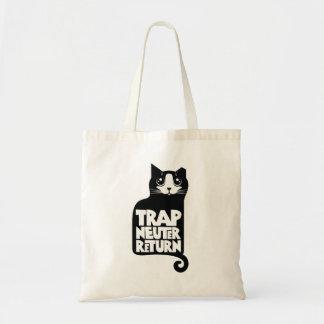 Trap, neuter, return feral cat care tote bag