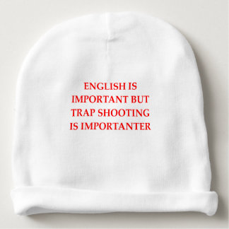 trap shooting baby beanie