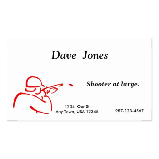 Trap Shooting Business Card