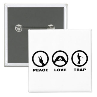 Trap Shooting 2 Inch Square Button