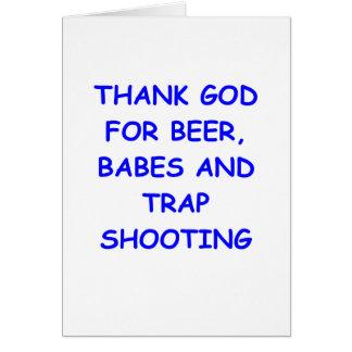 trap shooting card