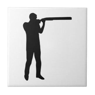 Trap shooting ceramic tile