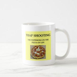 trap shooting classic white coffee mug