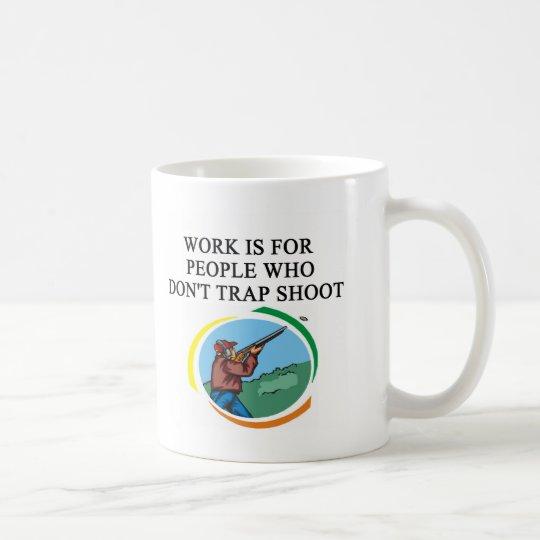 trap shooting design coffee mug