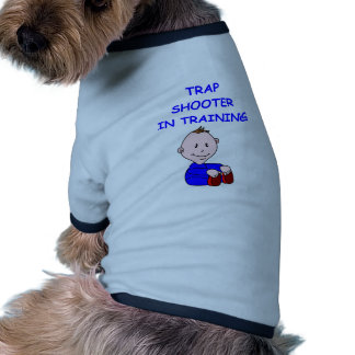 trap shooting pet tee shirt