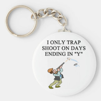 TRAP shooting joke Keychain