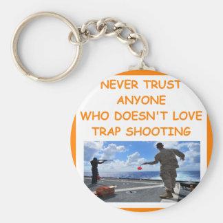trap shooting key chain