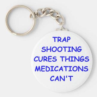 trap shooting key chains