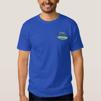 Trap Shooting Logo Embroidered T-Shirt
