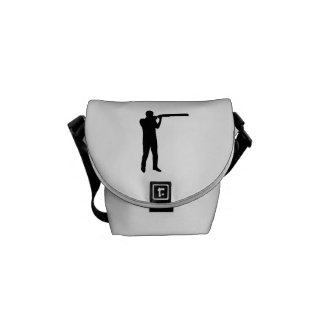 Trap shooting messenger bag