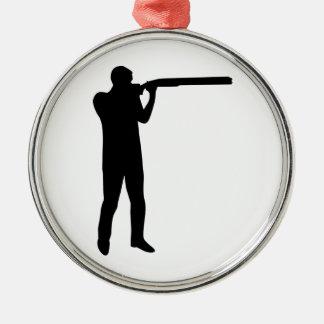 Trap shooting metal ornament