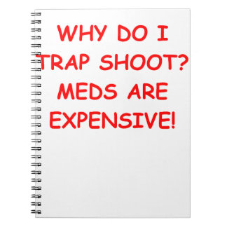 trap shooting note book