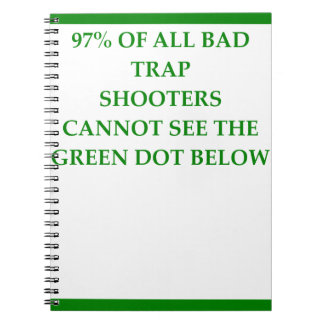trap shooting notebook