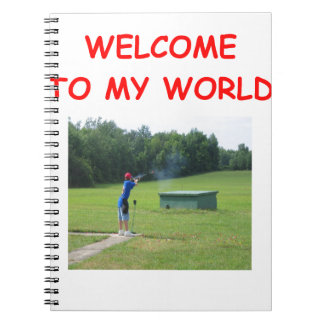 trap shooting spiral note book