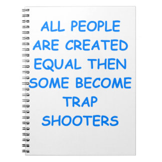 trap shooting spiral notebook