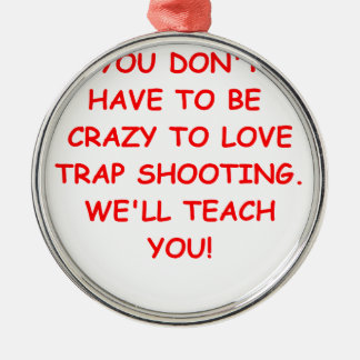 trap shooting christmas tree ornaments