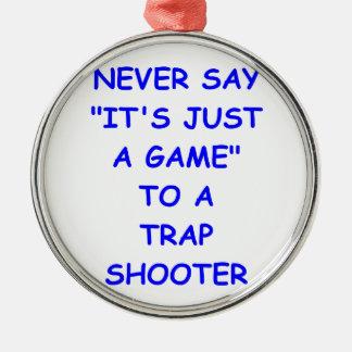 trap shooting christmas tree ornament