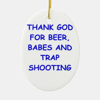 trap shooting ornaments