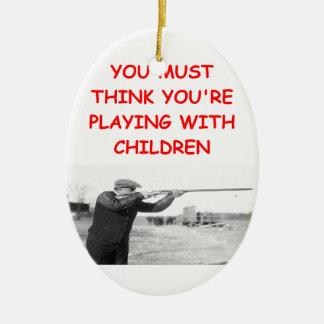 trap shooting ornament