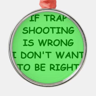 trap shooting christmas ornament