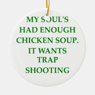 trap shooting christmas ornaments
