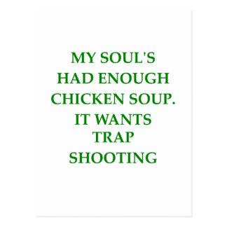 trap shooting postcard