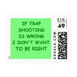 trap shppting postage stamp