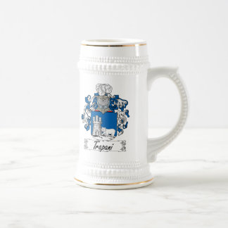 Trapani Family Crest Beer Stein