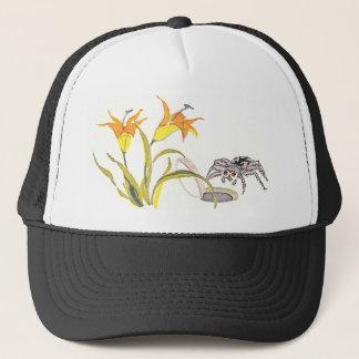 Trapdoor Spider & Day Lilies Trucker Hat