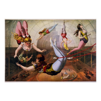 Trapeze Artist Circus Poster