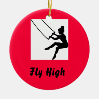 trapeze_artist, Fly High Christmas Ornament