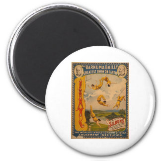Trapeze artists Barnum & Bailey 1896 2 Inch Round Magnet