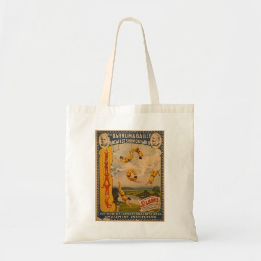 Trapeze artists Barnum & Bailey 1896 Tote Bags