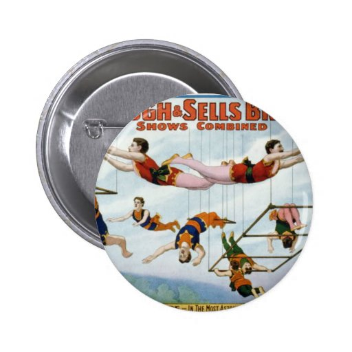 Trapeze Artists / Forepaugh & Selle Brothers Buttons
