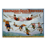 Trapeze Artists / Forepaugh & Selle Brothers Poster