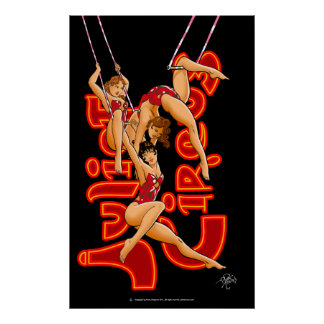 Trapeze Artists Trio Juliet Circus Classic Poster