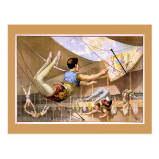 Trapeze Artists Vintage Theater Poster Postcard