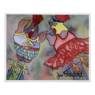 Trapeze Chickens Poster
