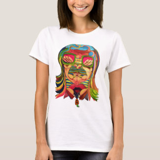 trapeze Face Tee SHirt by baby Carrot Studios