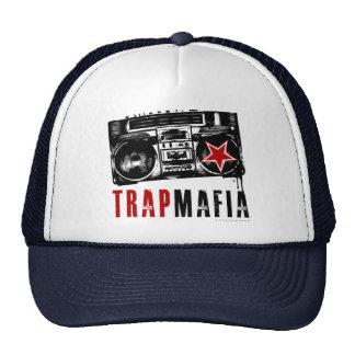 trapmafia boom box logo 2 trucker hat