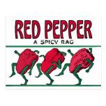 Trapo de la pimienta roja postal