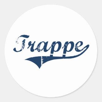 Trappe Pennsylvania Classic Design Round Sticker