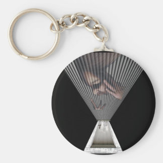 Trapped Basic Round Button Keychain