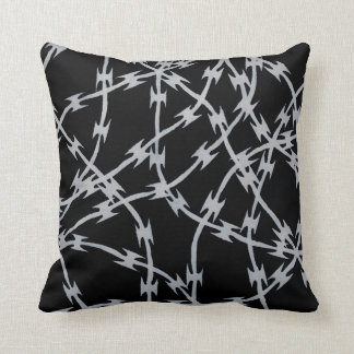 Trapped Black and White Throw Pillows