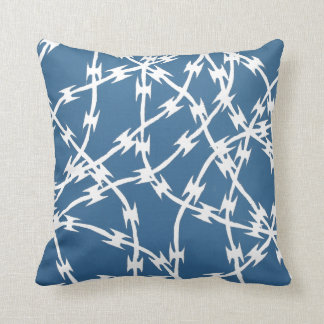 Trapped Blue Throw Pillows