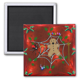 Trapped Gingerbread 2 Inch Square Magnet