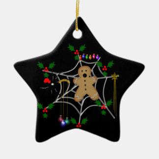 Trapped Gingerbread Ceramic Ornament